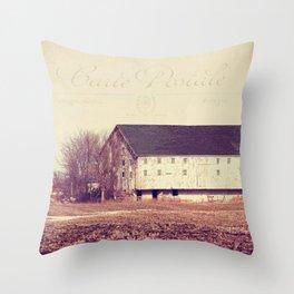 Snowfields Throw Pillow