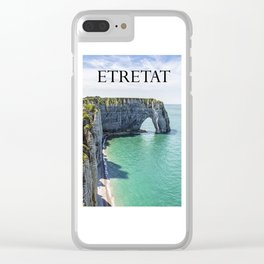 The cliffs of Etretat Clear iPhone Case