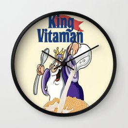 King Vitamins Wall Clock