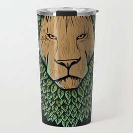 Wood Lion Travel Mug