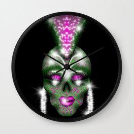 Mowhawk skull Wall Clock