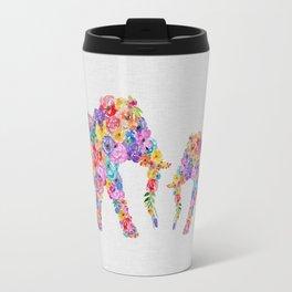 Floral Elephants Travel Mug