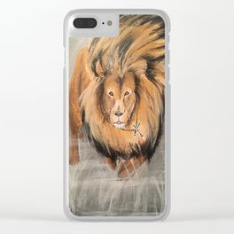 Roaring Like A Lion Clear iPhone Case