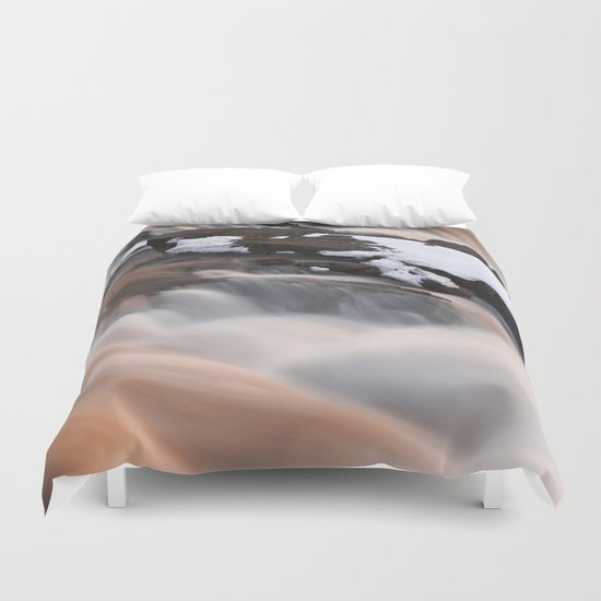 Ruby Winter Falls Duvet Cover