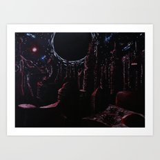The Fall into Night. Art Print