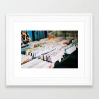 records Framed Art Prints featuring records by tesslucia