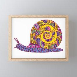 Colorful Snail Framed Mini Art Print
