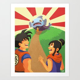 Look at What I Caught! Art Print