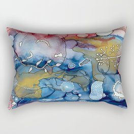 Reef of Rose and Prussian Rectangular Pillow