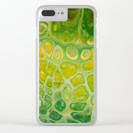 Green snakeskin Clear iPhone Case