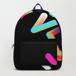 Abstract colour lines Backpack