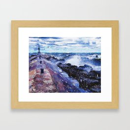 Lake Michigan Waves Framed Art Print