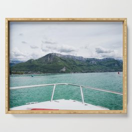 Cruising around Lake Annecy Serving Tray