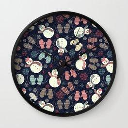 winter fun Wall Clock