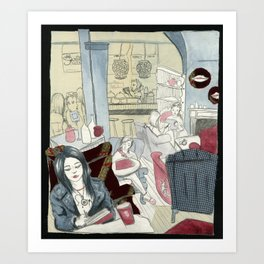 Gallery Espresso  Art Print