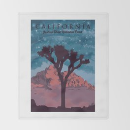 Joshua Tree National Park. Throw Blanket