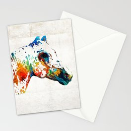 Colorful Horse Art - Wild Paint - By Sharon Cummings Stationery Cards