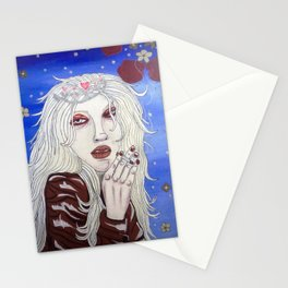 snow princess with cigarette Stationery Cards