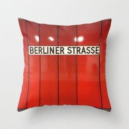 Berlin U-Bahn Memories - Berliner Strasse U7 Throw Pillow