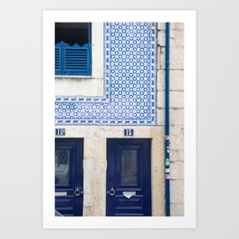 Blue Tile House, Alfama Art Print