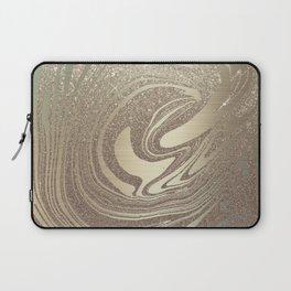 Mermaid Gold Wave Laptop Sleeve