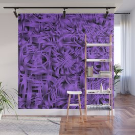 Unusual doodle in gentle colors with a royal violet tint. Wall Mural