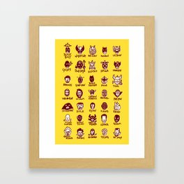 Happy Little Marvels - Yellow Framed Art Print