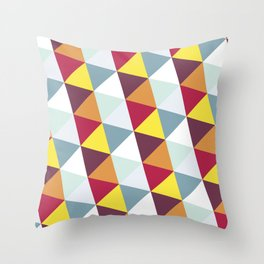 WARM AND COLD TRIANGLES Throw Pillow