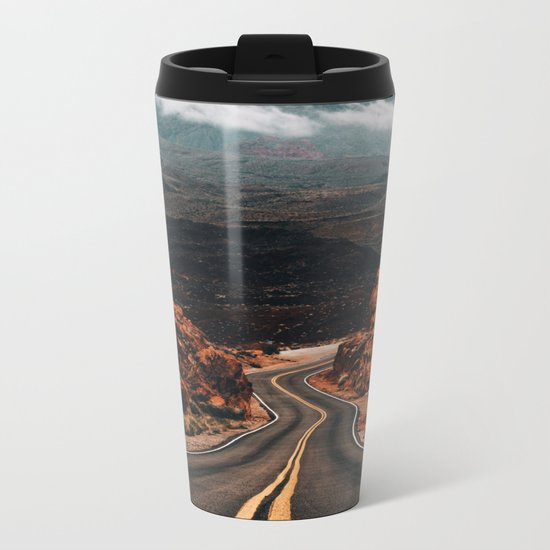 Road to Valley of Fire Metal Travel Mug