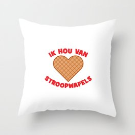 Ik Hou Van Stroopwafels Throw Pillow