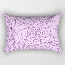 Lavender Bouquet Rectangular Pillow
