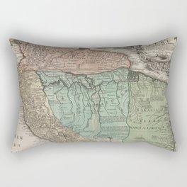 Vintage Map Print - de L'Isle - Northern South America / Peru (1729) Rectangular Pillow