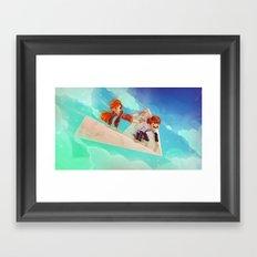 Flying Around Framed Art Print