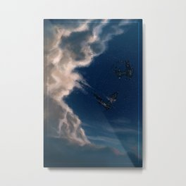 Chase the Stars (blue) Metal Print
