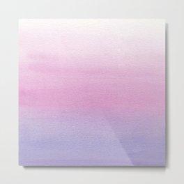 Watercolor Gradient Metal Print