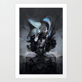 The Carrion Widow from Below the Cliffs Art Print