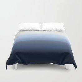blue ombre paint Duvet Cover