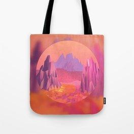 Woah, Pink Mountains Tote Bag