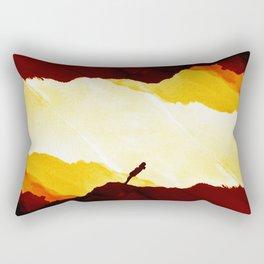 Red Isolation Rectangular Pillow