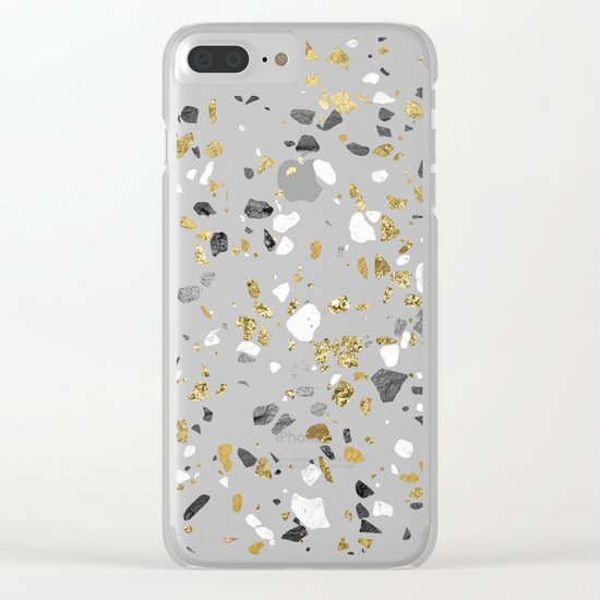 Glitter and Grit 2 Clear iPhone Case