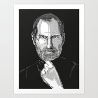 steve jobs Art Prints featuring Steve Jobs by 1and9
