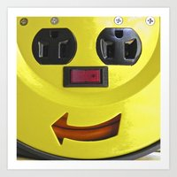 Plug Smiley Art Print