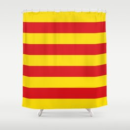 Catalan Flag - Senyera - Authentic High Quality Shower Curtain