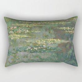 Claude Monet - Le Bassin Aux Nympheas Harmonie Verte Rectangular Pillow
