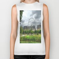 ferris wheel Biker Tanks featuring Ferris Wheel by Christine Workman