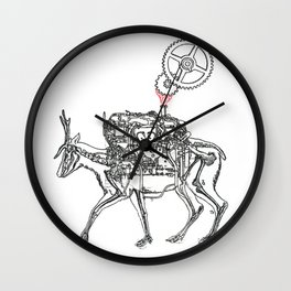Moto Deer Wall Clock