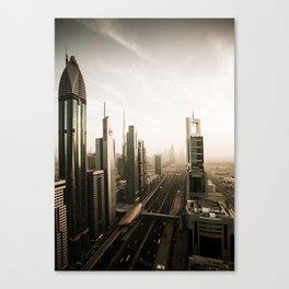 Dubai sky line. Futuristic Cityscape. Canvas Print