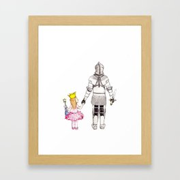 The Princess and her Knight Framed Art Print