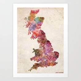 Great britain custom Art Print