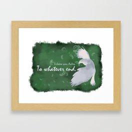 To Whatever End (Green) Framed Art Print